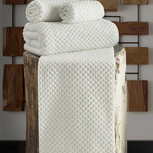 Полотенце для ванной Karna DAMA хлопковая махра кремовый 90х150