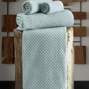 Полотенце для ванной Karna DAMA хлопковая махра зелёный 70х140