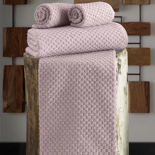 Полотенце для ванной Karna DAMA хлопковая махра пудра 90х150