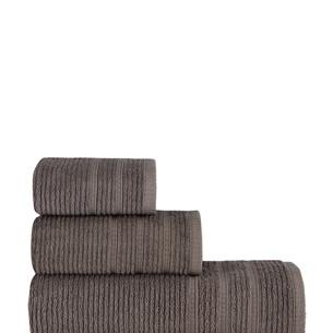 Полотенце для ванной Karna KOLMAR хлопковая махра коричневый 40х60