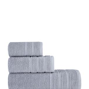 Полотенце для ванной Karna KOLMAR хлопковая махра серый 70х140