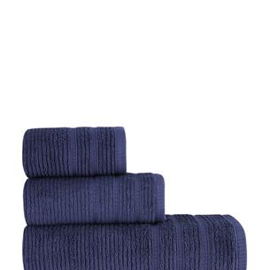 Полотенце для ванной Karna KOLMAR хлопковая махра синий 40х60