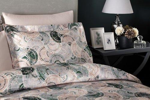 Постельное белье Tivolyo Home SHELLY хлопковый сатин делюкс семейный, фото, фотография