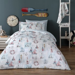Детское постельное белье Tivolyo Home MARIN хлопковый сатин делюкс 1,5 спальный