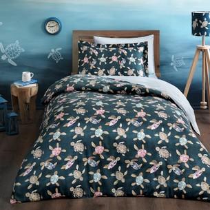 Детское постельное белье Tivolyo Home CARETTA хлопковый сатин делюкс 1,5 спальный