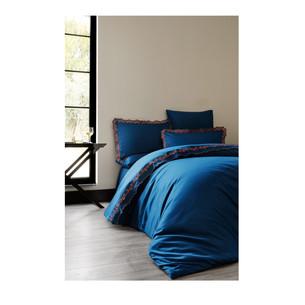 Постельное белье Soft Cotton MONDRIAN хлопковый сатин делюкс синий евро