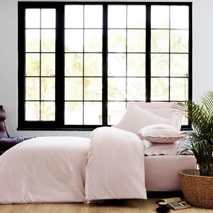 Постельное белье Soft Cotton SOFIA хлопковый сатин делюкс тёмно-розовый евро