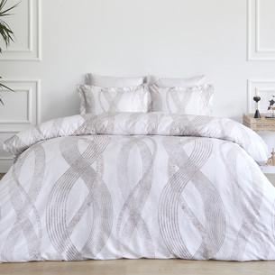 Постельное белье Soft Cotton VALOR тенсель серый евро-макси
