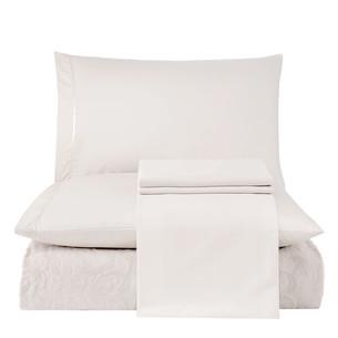 Постельное белье с махровой простынью-покрывалом Tivolyo Home BAROC хлопок кремовый евро