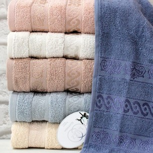Набор полотенец для ванной 6 шт. Luzz SOFT хлопковая махра 90х150