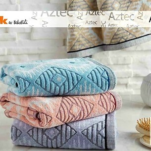 Набор полотенец для ванной 6 шт. Ozdilek AZTEC хлопковая махра ментол 70х140