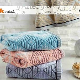 Набор полотенец для ванной 6 шт. Ozdilek AZTEC хлопковая махра персиковый 70х140