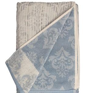 Набор полотенец для ванной 6 шт. Ozdilek GISELLE хлопковая махра синий 70х140