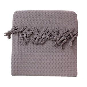 Вафельная простыня-покрывало для укрывания (пике) Saheser хлопок тёмно-серый 180х240