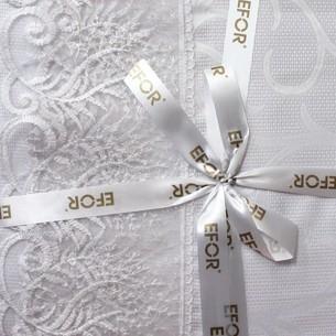 Скатерть прямоугольная Efor MELISA жаккард белый 160х260
