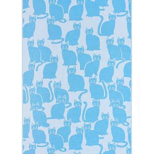 Полотенце пештемаль для пляжа, сауны, бани Begonville COTTON MEOWEE хлопок blue 100х180