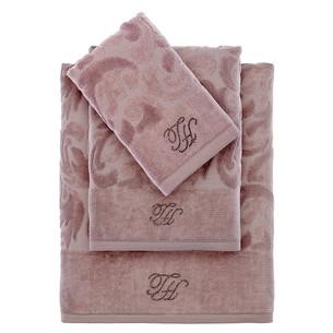 Подарочный набор полотенец для ванной 3 пр. Tivolyo Home BAROC хлопковая махра коричневый