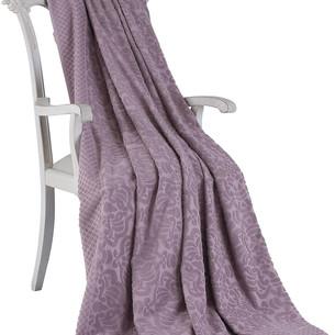 Махровая простынь-покрывало для укрывания Tivolyo Home ELIPS хлопок фиолетовый 160х220