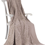 Махровая простынь-покрывало для укрывания Tivolyo Home ELIPS хлопок коричневый 220х240, фото, фотография