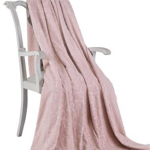 Махровая простынь-покрывало для укрывания Tivolyo Home ELIPS хлопок грязно-розовый 160х220