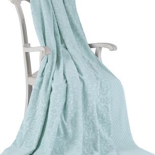 Махровая простынь-покрывало для укрывания Tivolyo Home ELIPS хлопок бирюзовый 160х220