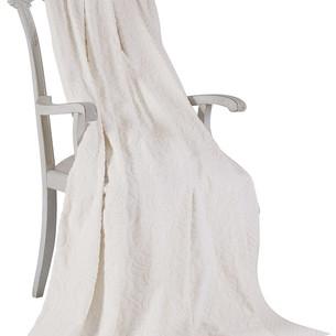 Махровая простынь-покрывало для укрывания Tivolyo Home ELIPS хлопок кремовый 160х220
