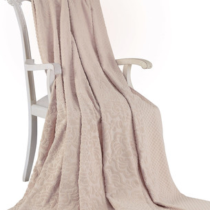 Махровая простынь-покрывало для укрывания Tivolyo Home ELIPS хлопок бежевый 220х240