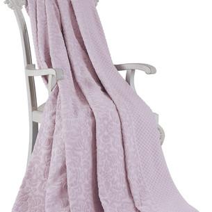 Махровая простынь-покрывало для укрывания Tivolyo Home ELIPS хлопок лиловый 220х240