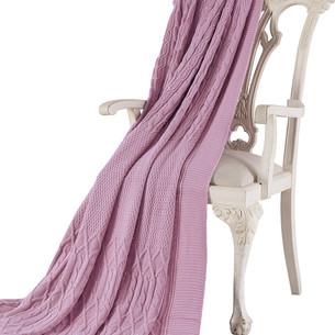 Вязаный плед-покрывало Tivolyo Home LUNA светло-розовый 220х240