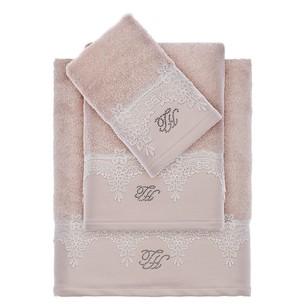 Подарочный набор полотенец для ванной 2 пр. Tivolyo Home JULIET хлопковая махра бежевый