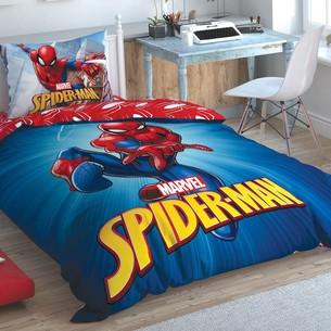 Детское постельное белье TAC SPIDERMAN TIME TO MOVE хлопковый ранфорс 1,5 спальный