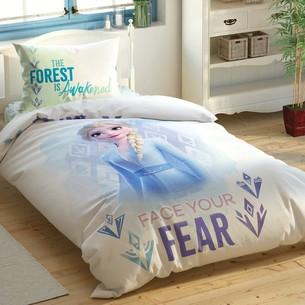 Детское постельное белье светящееся TAC FROZEN 2 DOUBLE ELZA хлопковый ранфорс 1,5 спальный