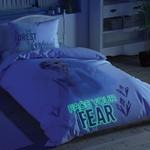 Детское постельное белье светящееся TAC FROZEN 2 DOUBLE ELZA хлопковый ранфорс 1,5 спальный, фото, фотография