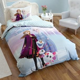 Детское постельное белье TAC FROZEN 2 хлопковый ранфорс 1,5 спальный