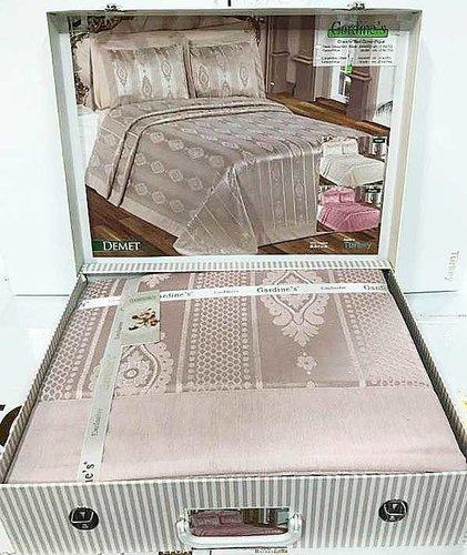 Покрывало Gardine's DEMET жаккард сухая роза 240х260, фото, фотография
