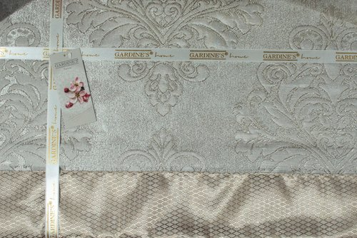 Покрывало Gardine's DIVA жаккард бежевый 240х260, фото, фотография