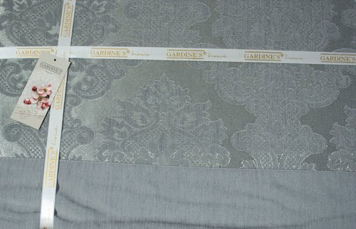 Покрывало гобеленовое Gardine's EZGI жаккард бирюзовый 240х260, фото, фотография