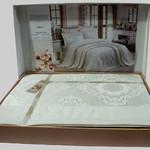 Покрывало гобеленовое Gardine's MIRAY жаккард кремовый 240х260, фото, фотография