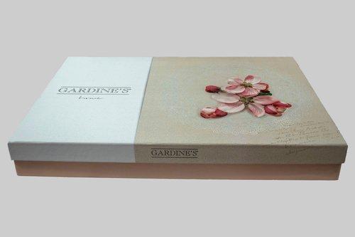 Покрывало гобеленовое Gardine's MIRAY жаккард сухая роза 240х260, фото, фотография