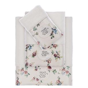 Набор полотенец для ванной 3 пр. Tivolyo Home ROSELAND хлопковая махра кремовый