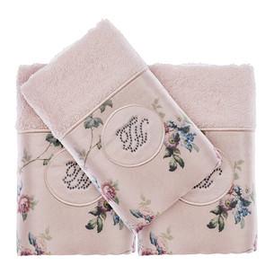 Подарочный набор полотенец-салфеток 30х50(3) Tivolyo Home ROSELAND LUX хлопковая махра розовый