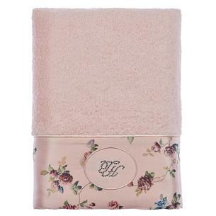 Полотенце для ванной Tivolyo Home ROSELAND LUX хлопковая махра розовый 75х150