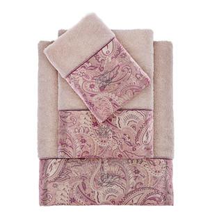 Подарочный набор полотенец для ванной 2 пр. Tivolyo Home ETTO хлопковая махра бежевый
