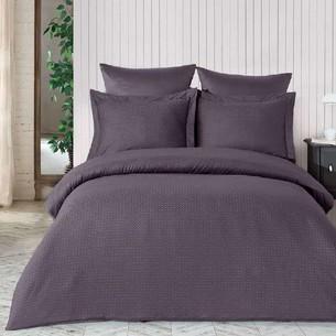 Постельное белье Saheser JACQUARD VIP SATIN DIAMOND хлопковый сатин-жаккард фиолетовый евро