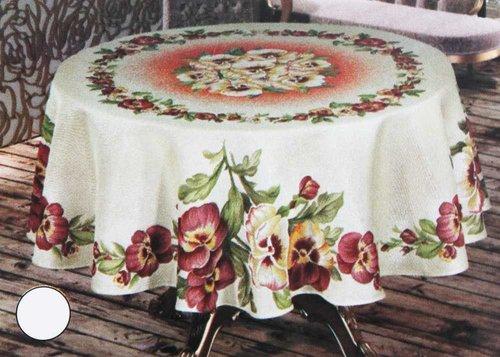 Скатерть круглая Efor ST151 K-2 гобелен кремовый D=160, фото, фотография
