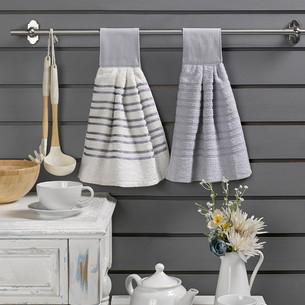 Набор кухонных полотенец 2 шт. Karna LIMBO хлопковая махра V5 30х30