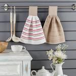 Набор кухонных полотенец 2 шт. Karna LIMBO хлопковая махра V2 30х30, фото, фотография