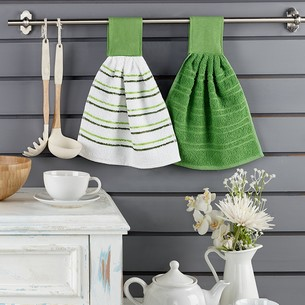 Набор кухонных полотенец 2 шт. Karna LIMBO хлопковая махра V3 30х30