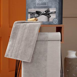 Подарочный набор полотенец для ванной 50х90, 70х140 Karna MORANO хлопковая махра бежевый