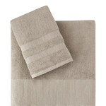 Подарочный набор полотенец для ванной 50х90, 70х140 Karna MORANO хлопковая махра бежевый, фото, фотография